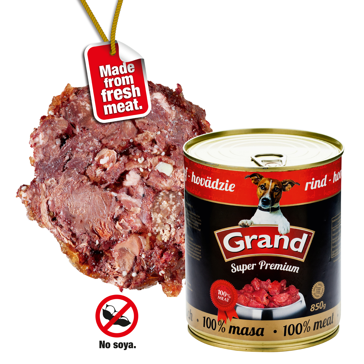 GRAND Hovězí - DOG 6 x 850g